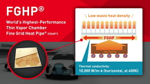 Advanced Heat Diffusion Performance for Efficient Heat Dissipation FGHP (Fine Grid Heat Pipe)
