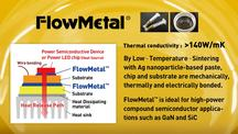Low-Temperature Silver nanoparticle bonding material paste with High Heat Resistance and Thermal Conductivity FlowMetal™